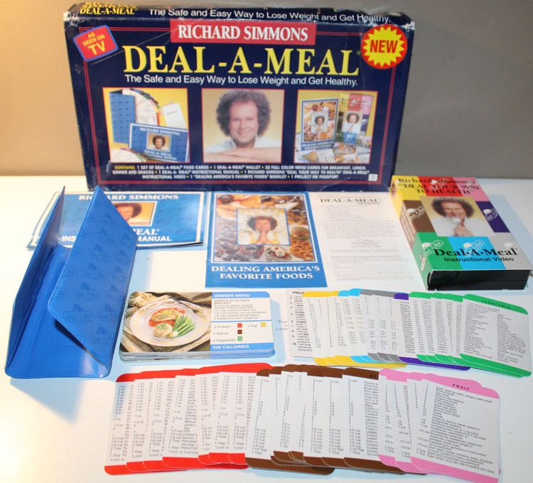 Richard Simmons Deal A Meal Vhs Weight Loss Program Complet