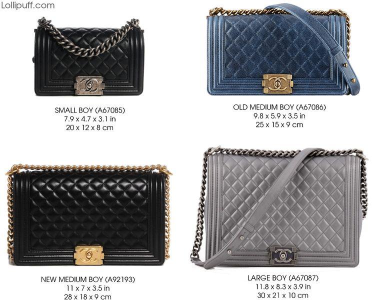 chanel le boy flap handbag purse bag size comparison dimension guide ebbe3a5ed0531
