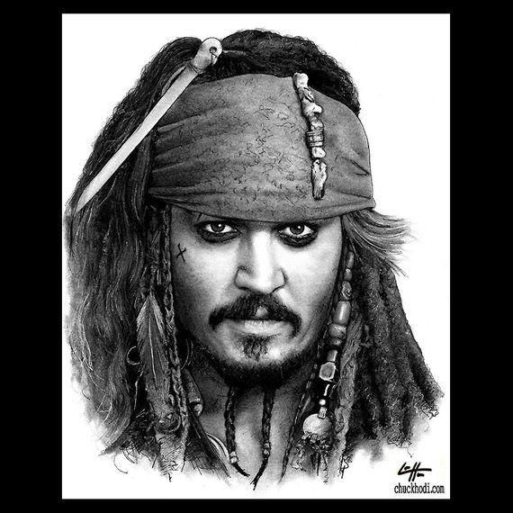 """Imprimir 8x10 """"- Capitão Jack Sparrow - Piratas do Caribe Johnny Depp Mar Oceano Bigode Álcool Aventura Fantasia Lowbrow Pop Art"""