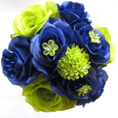 2 pcs seattle seahawks nfl navy blue green silk flower wed 2 pcs seattle seahawks nfl navy blue green silk flower wedding bouquet free shipping home decor brid mightylinksfo