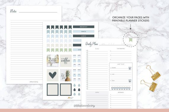 meal planner budget shopping list daily planner a5