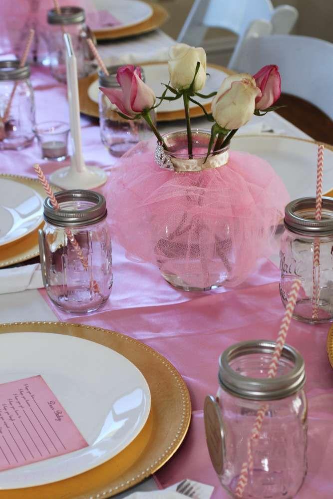 Vintage Ballerina Baby Shower Party Ideas