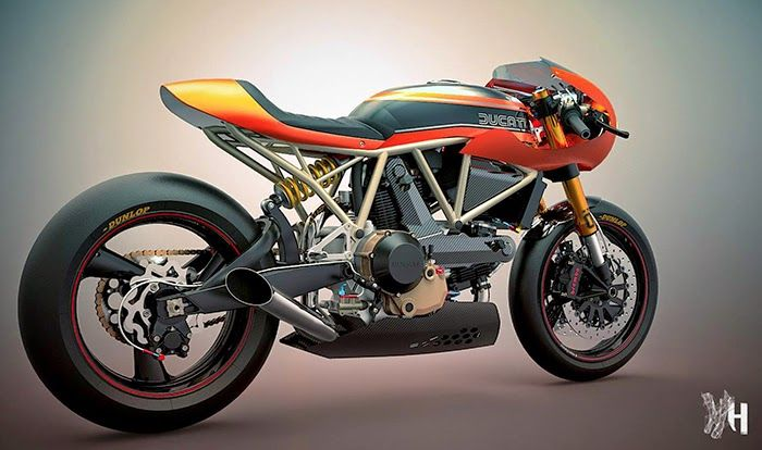 Ducati cafe racers by Holographic Hammer - The Bullitt