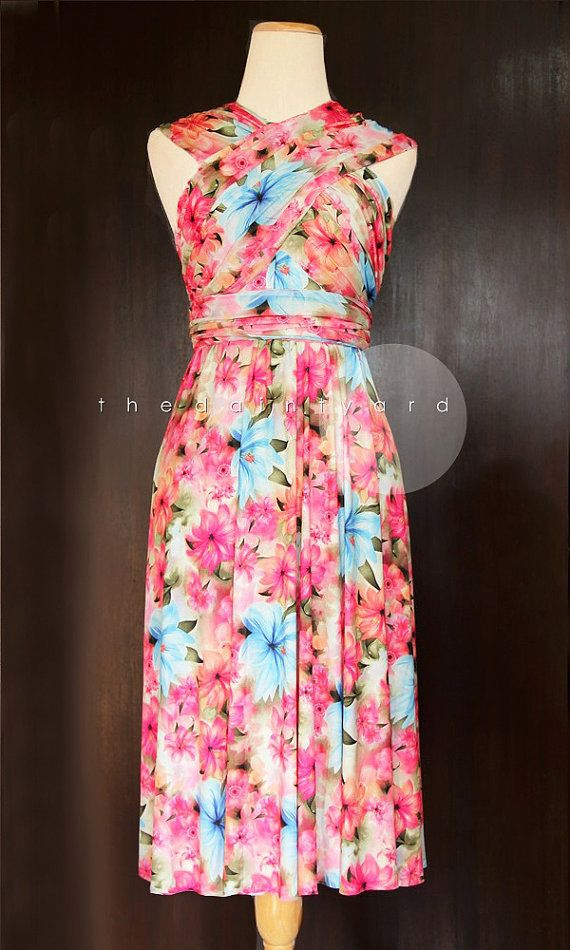 c3a0888c6c5 TDY Anna Floral Infinity Dress Convertible Dress Multiway Dress Summer  Floral Dress Twist Wrap Dress Bridesmaid Vibrant Dress