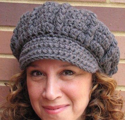 Free Crochet Pattern For Newsboy Hat Love It