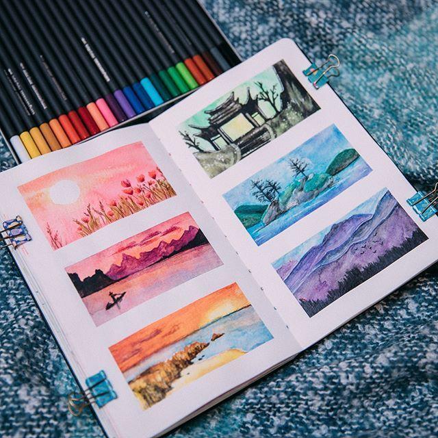Hier ist eine weitere Sketchbook-Idee aus meiner Skillshare-Klasse! ❤ (#linkin...