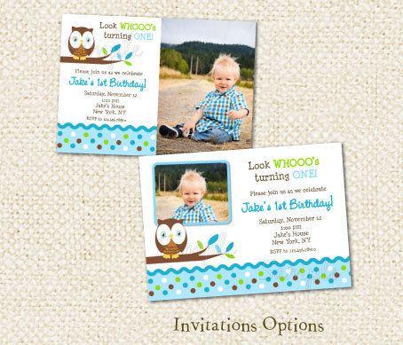 Owl Birthday Party Invitations For Boy 1000 Via Etsy
