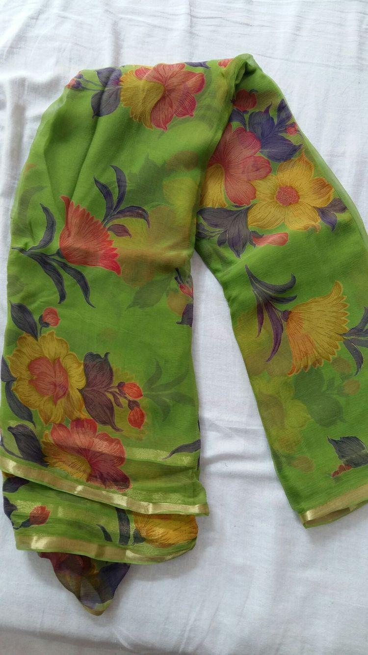 b505c8a0c7 floral print chiffon saree# WhatsApp 7014162141