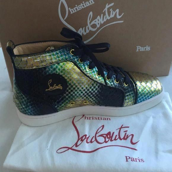 online store be8e8 dbcac Mens Louboutin Sneaker Multi Color Mens CL Python sneaker...New in box  never worn. Christian Louboutin Shoes Sneakers  ChristianLouboutin