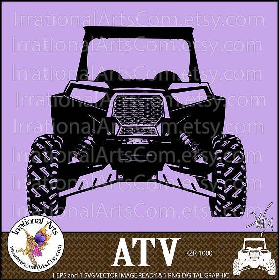 ATV Off-road Vehicle 2 person - 1 Eps & 1 Svg Vinyl Ready