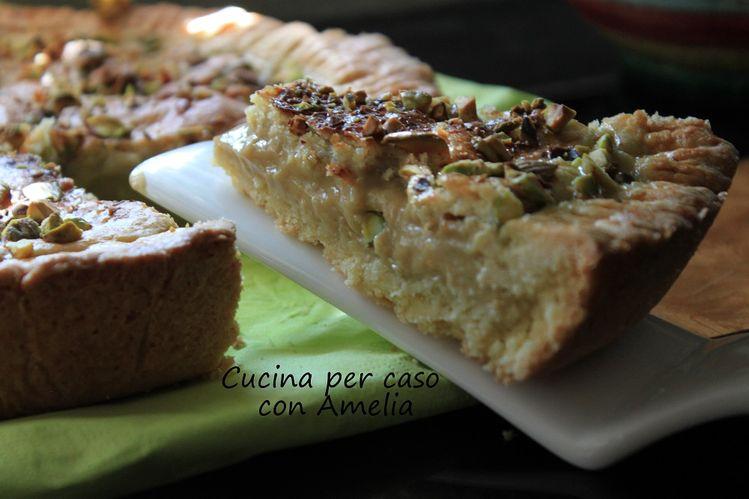 Torta Della Nonna Al Caffe E Pistacchi Ricetta