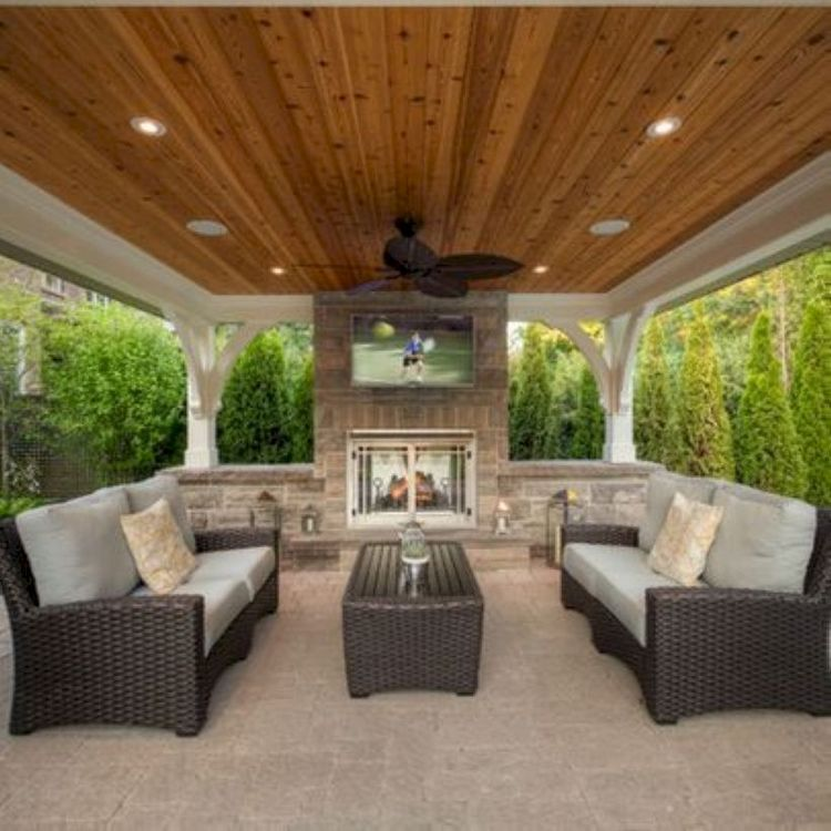 51 Outdoor Living Room Decoration That Inspiring # #decorationthatinspiring #outdoorlivingroom #Outdoor and Garden