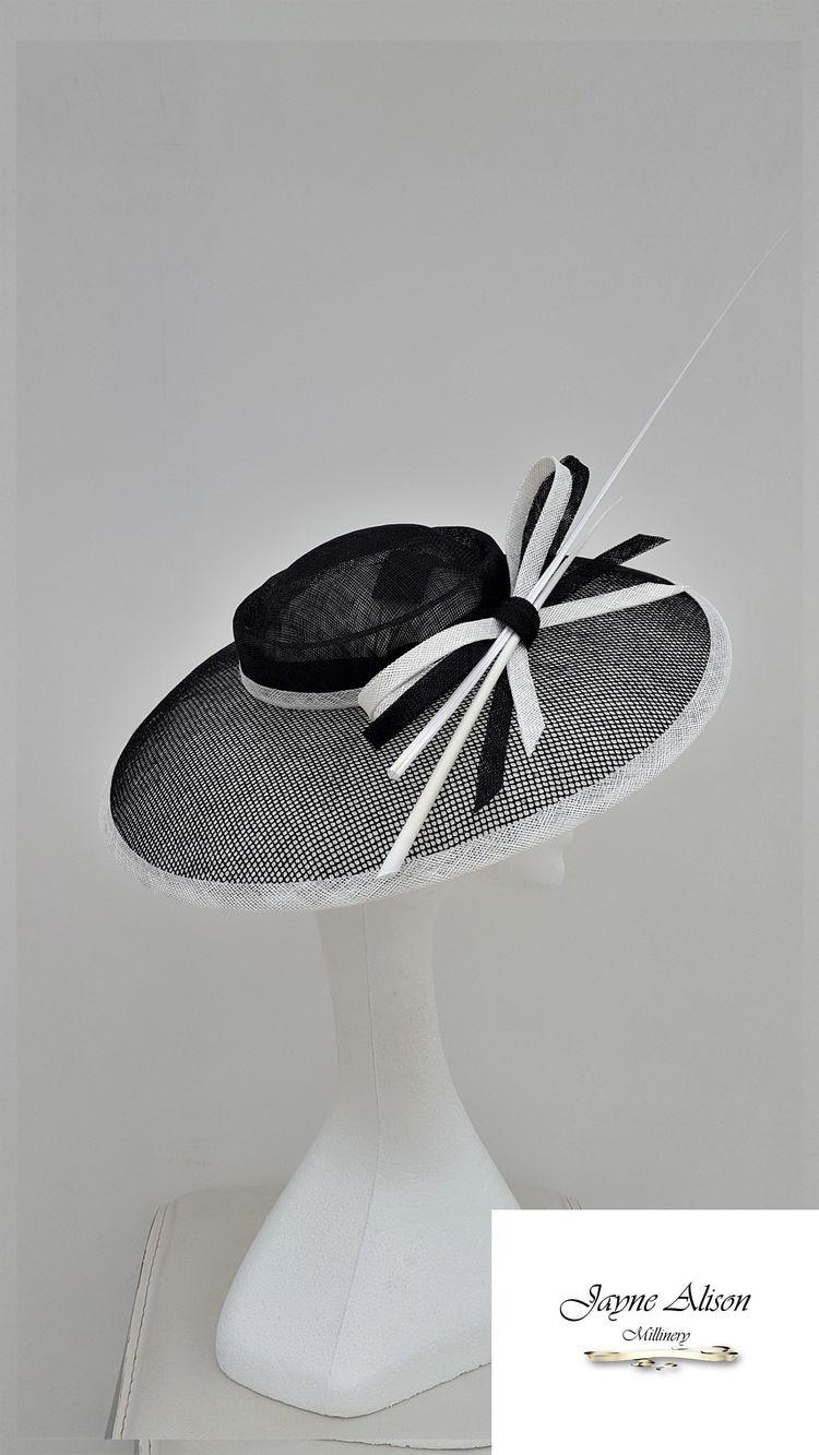 a0220aba Striking #BlackandWhiteHatinator, Wedding Hat, Mother of the Bride, Royal  Ascot Hat,