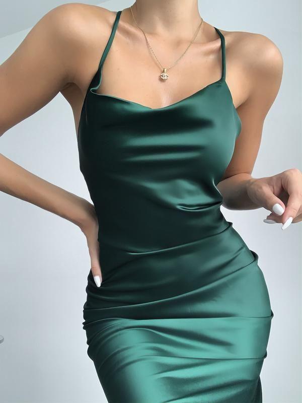 NATALIA DRESS - EMERALD
