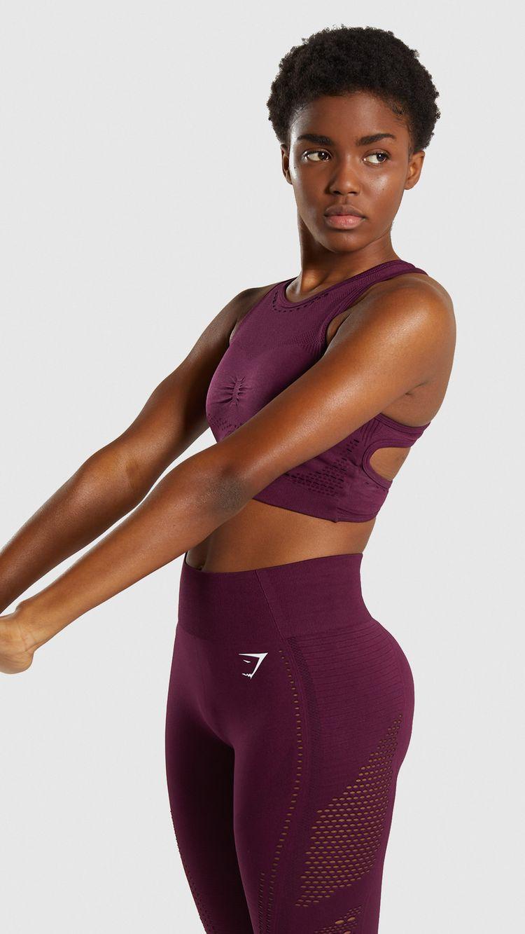a19866fb5874ac Gymshark Flawless Knit Sports Bra - Ruby