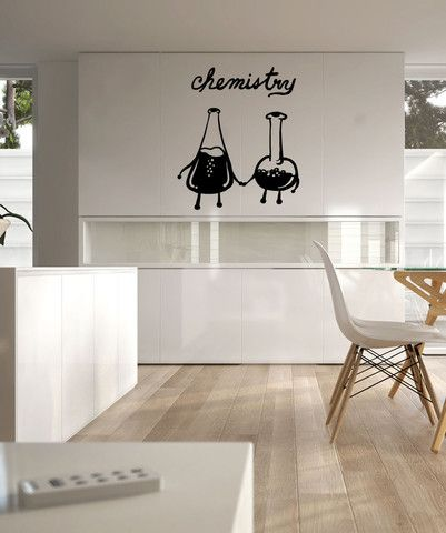 Chemistry Set Beakers Love Birds. Great School Decor for Teachers and Students. #OS_MB590