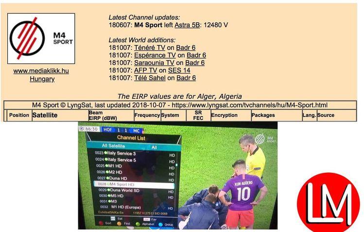 Lemmy Morgan Oct 2018 Update on Satellite TV, IPTV FTA & Ch