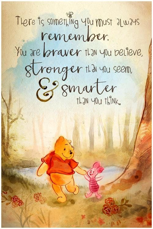Winnie The Pooh You Are Braver Than You Believe Quote Wall