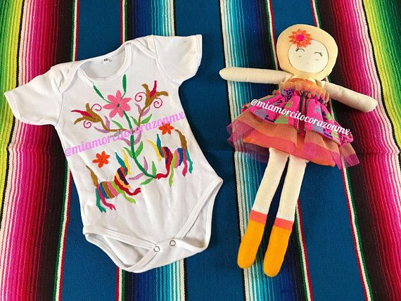 3f554a3cce4 Otomi baby onesie mexican tenangos onesie mexican party fiesta mexicana day  of the dead cinco de mayo uno fiesta first birthday 12-24m