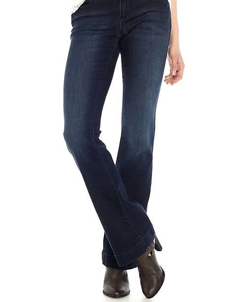 eec950398b9 Details about Earl Jeans Flare leg Dark Wash Stretch 2% woman s Petite 10