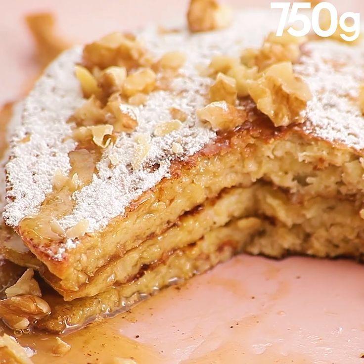 Pancakes à la banane et aux flocons d'avoine