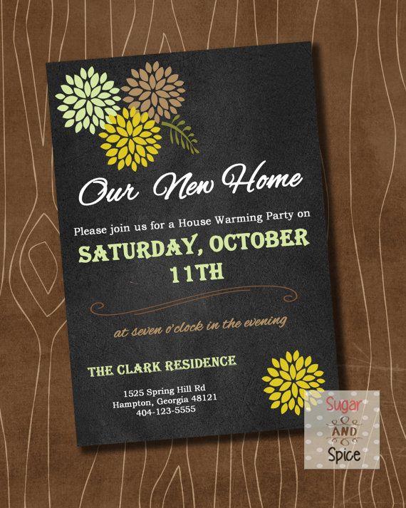 Rustic Housewarming Invitation Printable Housewarming Part