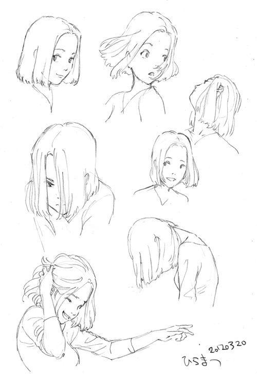 Desenho de cabelo idéias