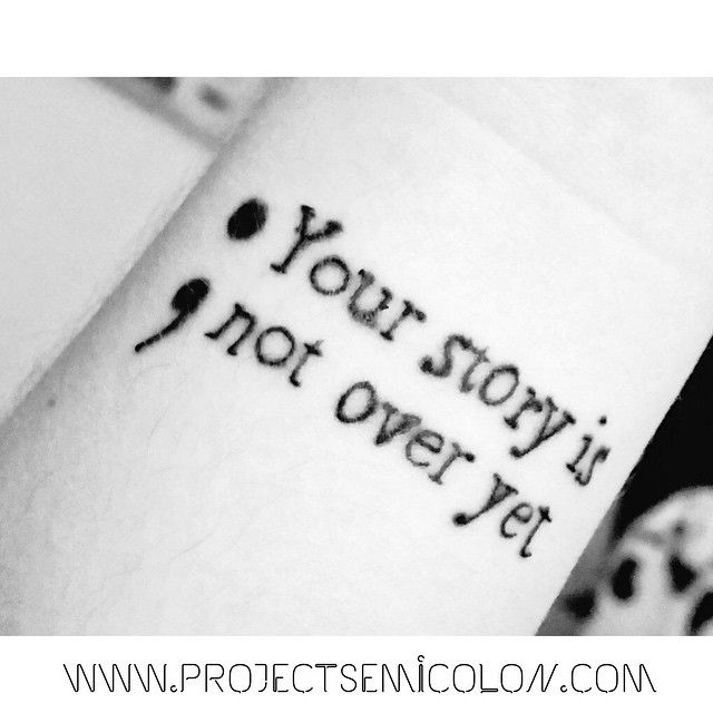 My Story Isnt Over Yet Tattoo