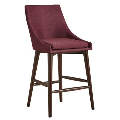Mercury Row Blaisdell Counter Height Arm Chair Upholstery: Tawny Port