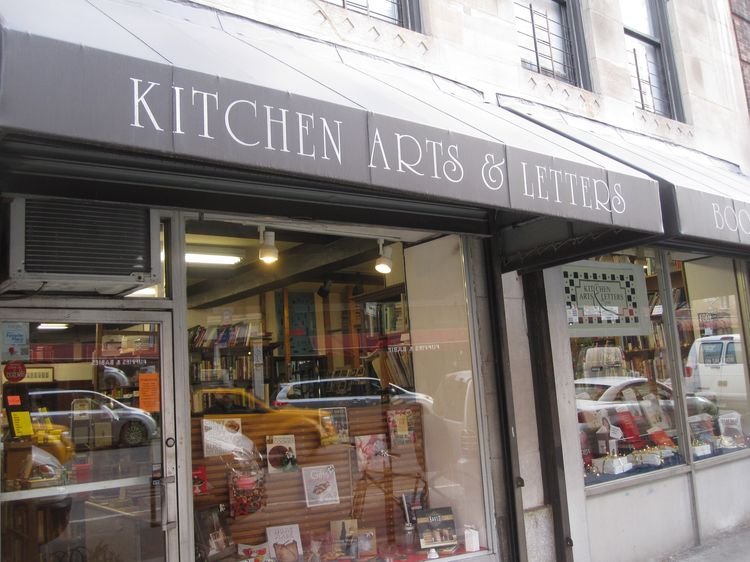 kitchen arts and letters bookstore. nyc, new york.
