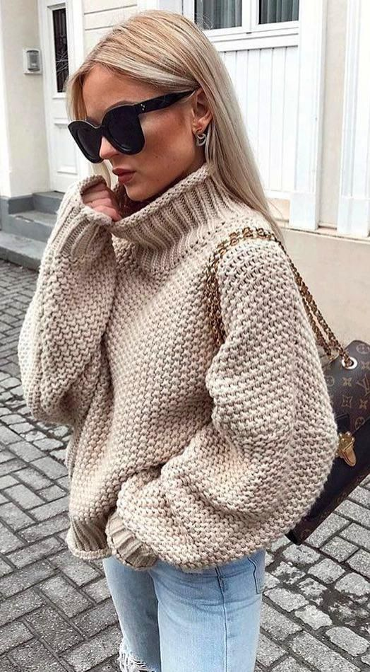 52 Fresh New Winter Outfit Ideas You'll Love #winter #outfit
