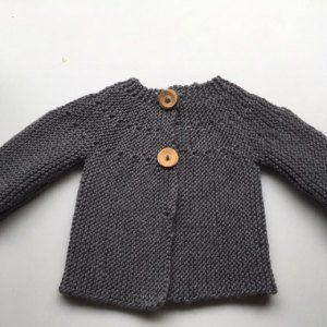 ea01b1d5b366 Bebeknits Simple French Style Toddler Cardigan Knitting