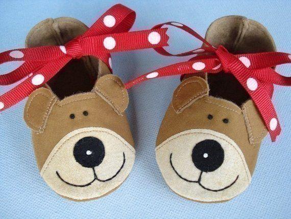 2f2c0dc6b37e7 Bear Baby Booties - Shoes Sewing Pattern - PDF ePattern