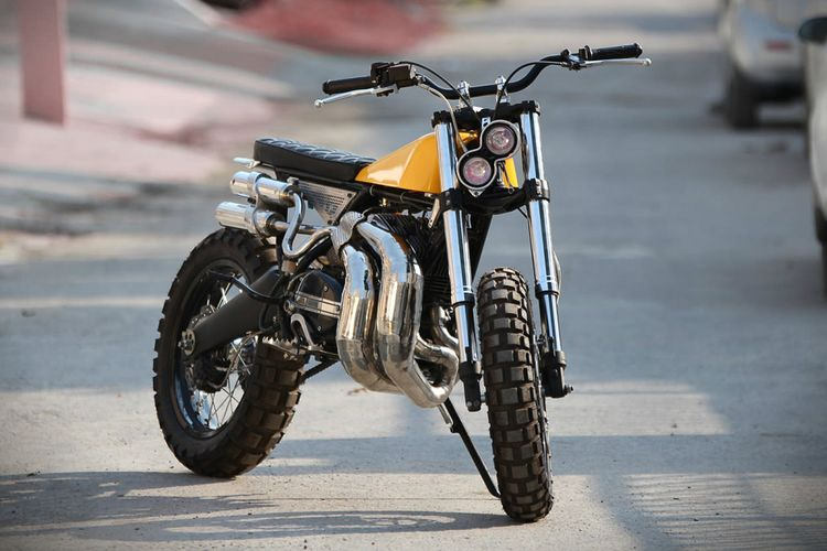 Yamaha RD350 scrambler by Moto Exotica.