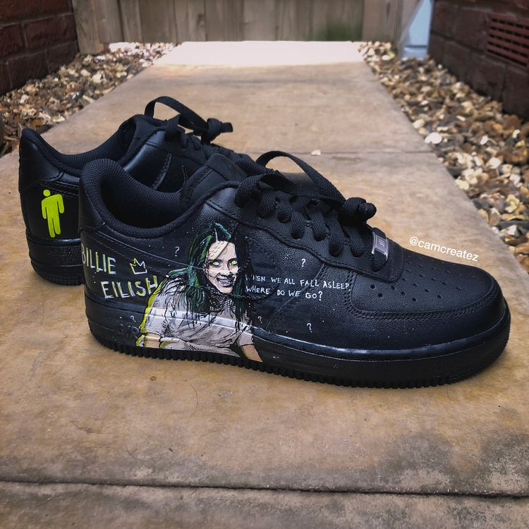 Billie Eilish Custom Nike AF1's