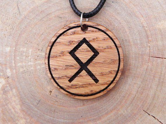 3038d4e9e3656 Othila rune talisman, Rune pendant, Viking necklace, nordic