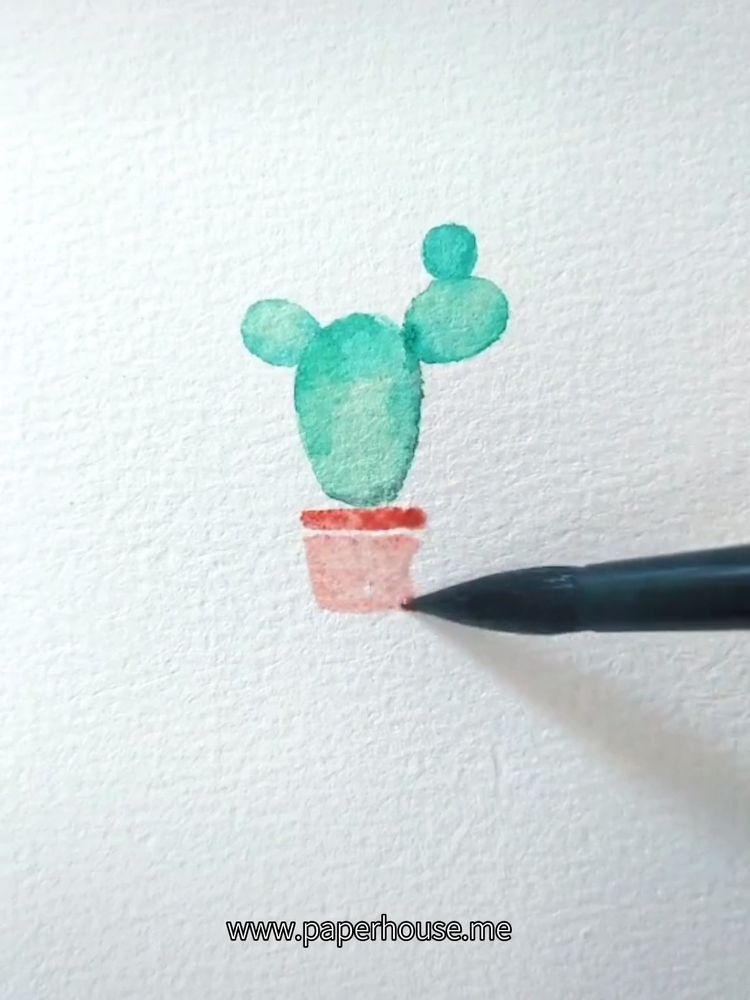 "Cactus Watercolor Paintings👉www.paperhouse.me💝Get $3 with code ""PIN3""💝Paperhouse Stationery"