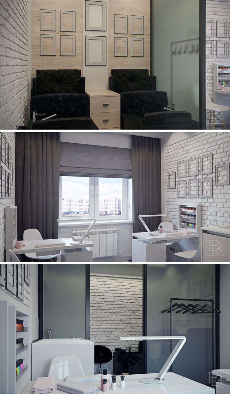Love The Brick Wall Here Home Nail Salon Decorating Ideas