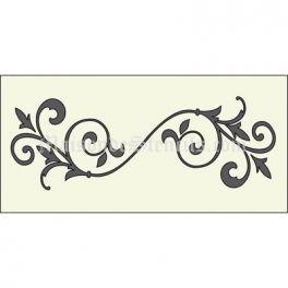 1e6e65b0bf Flourish A 5.5x11.5 Stencil