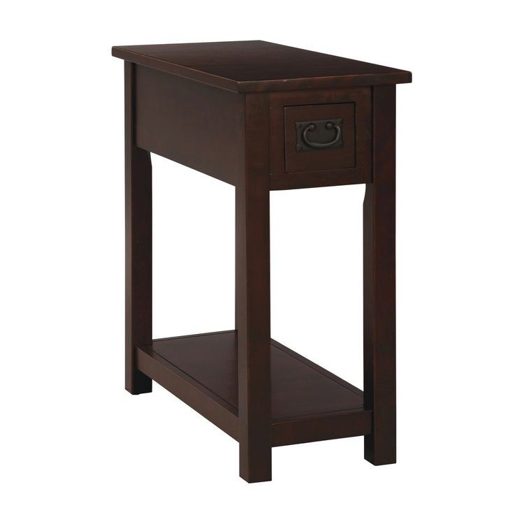 Chairside Table Hardwood Espresso   Alaterre Furniture, Brown