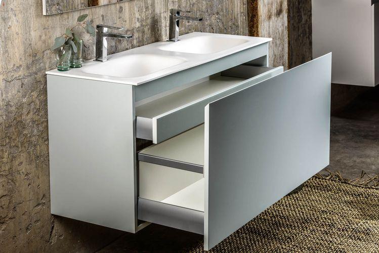 Solid Surface Wastafel : Serie flott 120 cm bad meubel kleur clay solid surface wa