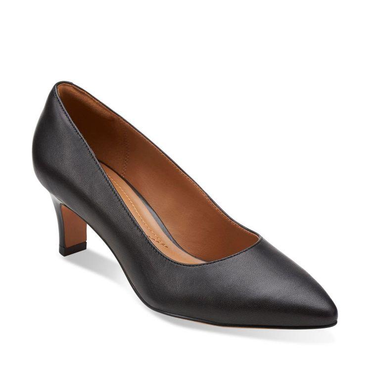 38d31f0071f5 Crewso Wick Black Leather - Clarks Womens Shoes - Womens Heels and Flats -  Clarks - Clarks® Shoes