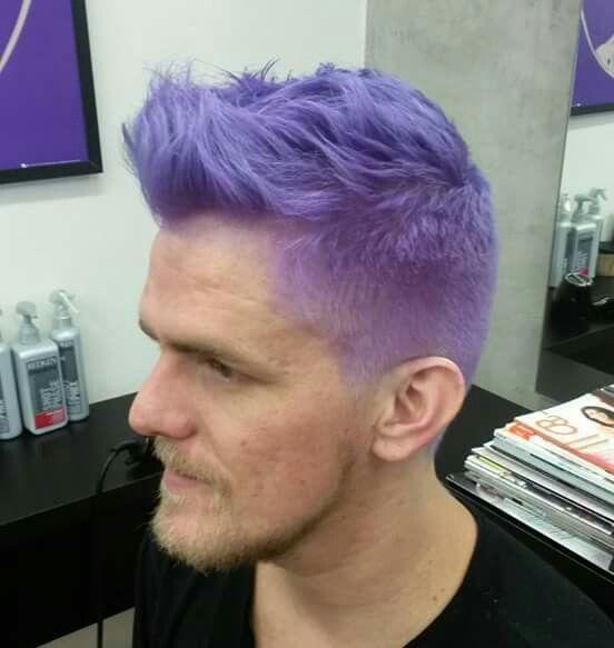 Purple Hair By Douglas Linhares Men Color Purple Ha