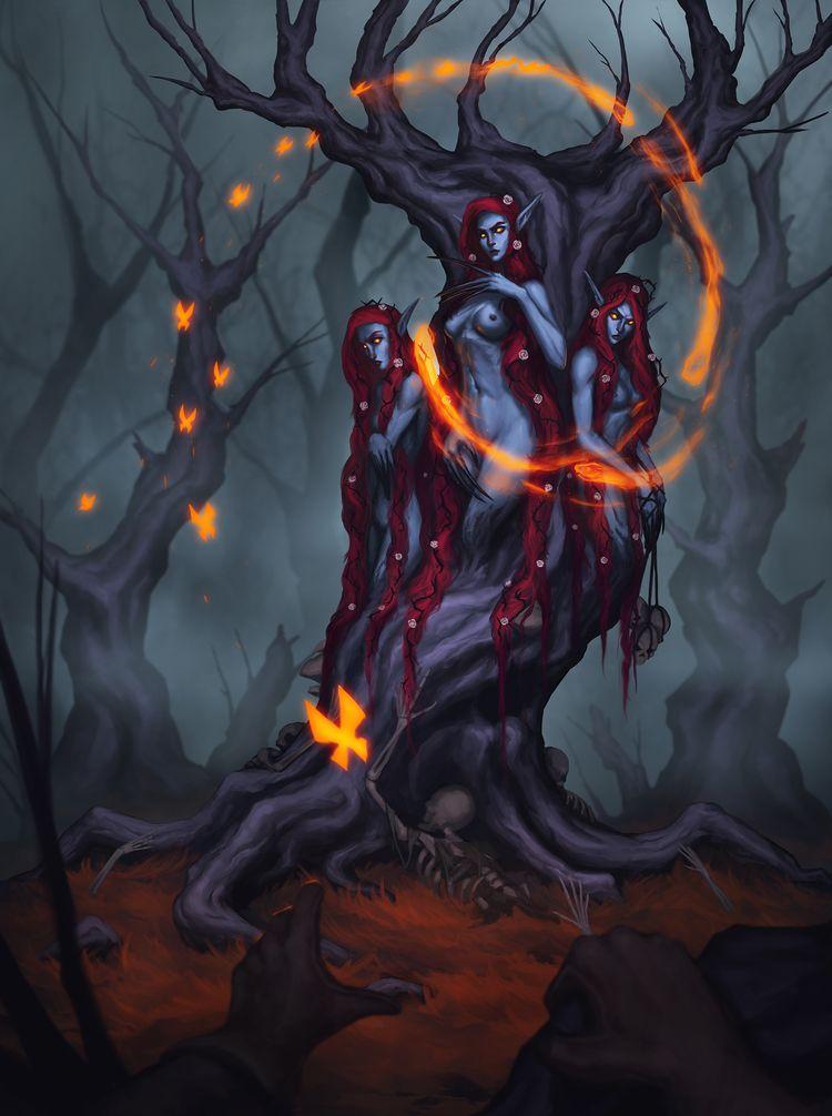 ArtStation - Tree, Andrei Kiselev