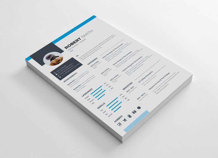 Clean Professional Resume Design 002728 - Template Catalog