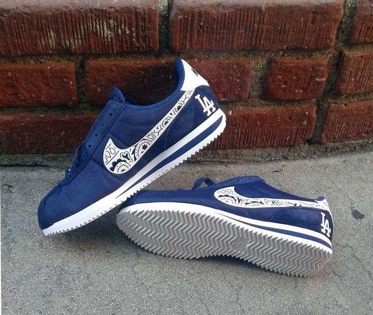 promo code a08c1 55e35 purchase bandana fever bandana fever custom bandana nike cortez 8f86b  9151e  promo code for customized bandana la dodgers nike sneakers mens navy  e03ba ...