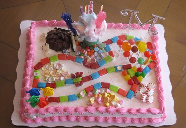Great Idea For A Candy Themed Birthday Cake You Could Even Buy Blank Store And Decorate It Yourself To Save Time But Add Personalization