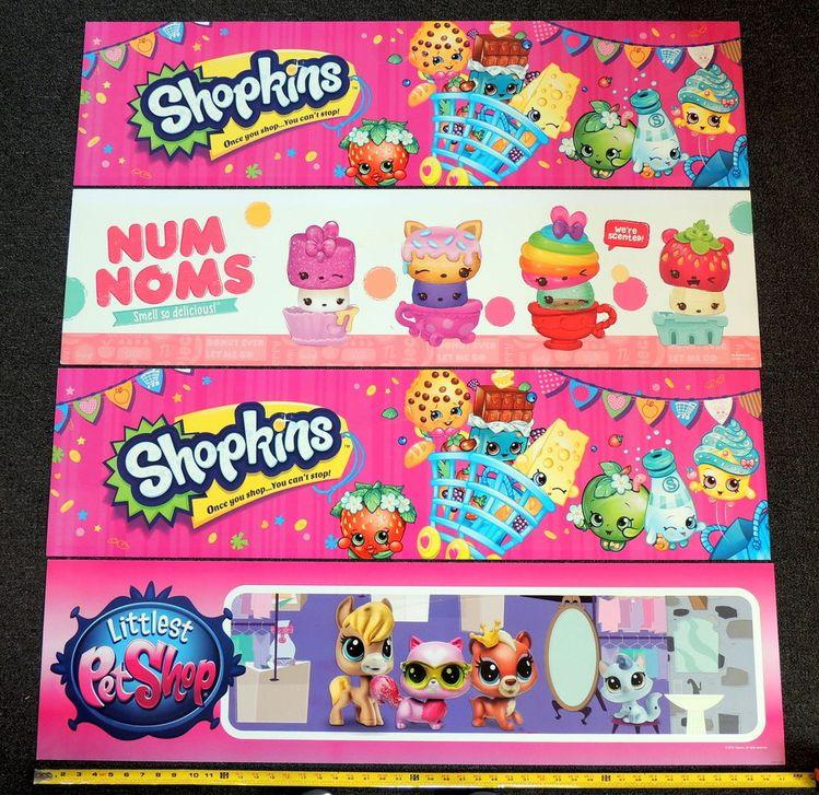 4 Littlest Pet Shop Shopkins Num Noms Toys R Us Only Di