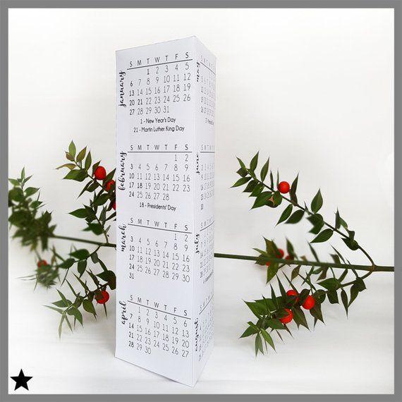 printable desk calendar modern calendar 2019 gift for etsy