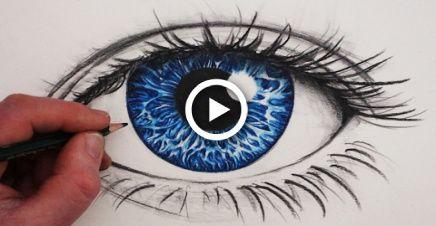 Como desenhar um olho realista em cores